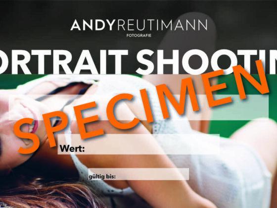 Gutschein Portrait Shooting